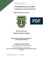 Manual de Practicas de Problemas Clinicos en Equinos 2013