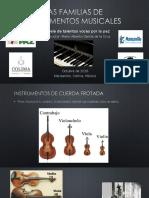 Las Familias de Instrumentos Musicales