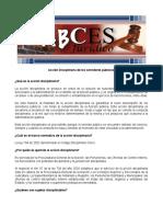 ABCES Accion Disciplinaria de Los Servidores Publicos