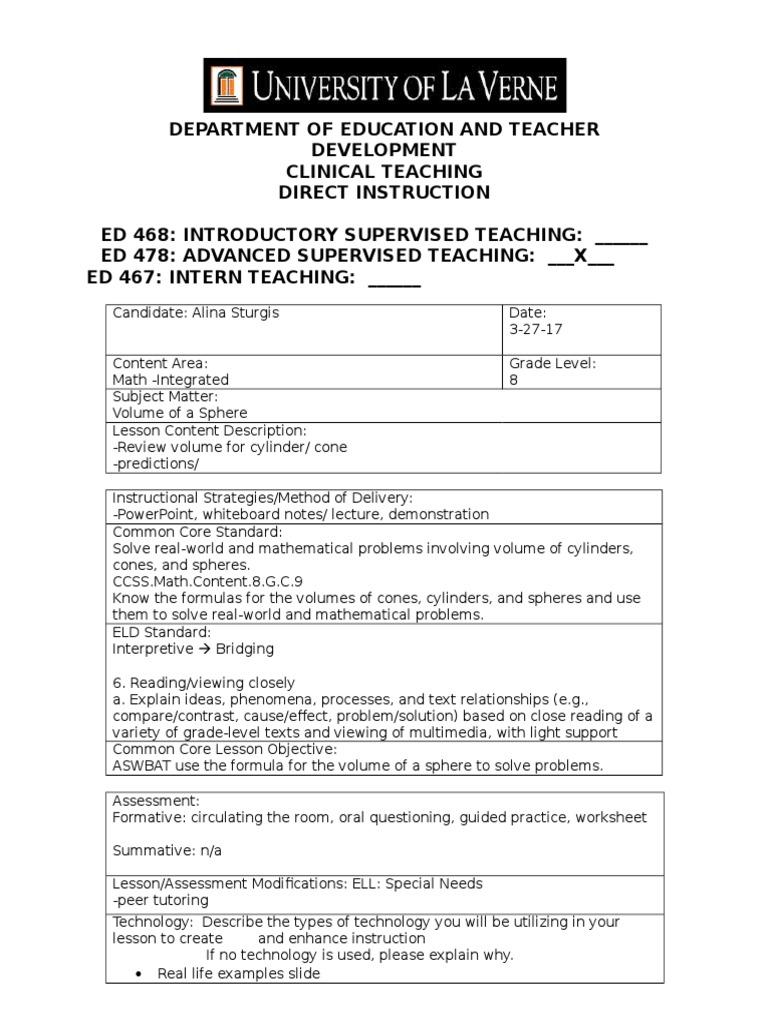 worksheet Volume Of Spheres Worksheet 3 27 17 integrated volume educational assessment