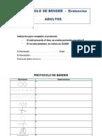 Protocolo Evaluación Bender (Adultos)