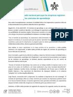 Boletin Registratón Contrato de Aprendizaje