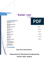 Solar Car Project Report