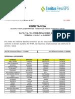 Constancia RENOVACIÓN SCTR Satelital