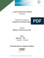 Unidad 2 Metodos y Estructuras de Control
