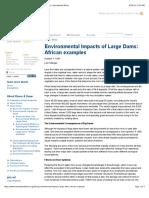 Environmental Impacts of Large Dams