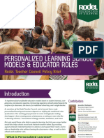Rodel Teacher Council Brief School Models and Educator Roles