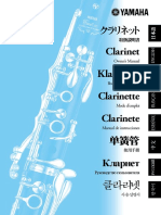Clarinet Yamaha Manual