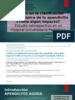 Cambio en La Clasificación Macroscópica de La Apendicitis