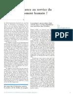 Vue d'Ensemble - La croissance au service du développement humain