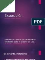 Evaluando La Estructura de Datos Existente Para El Diseño de Voz.