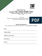 2010 Jersey City Artists Studio Tour Application