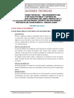Especificaciones Tecnicas Sistema Agua