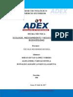 ADEX - V CICLO - 506 Ecología - Ficha Técnica
