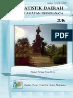 Statistik Daerah Kecamatan Biringkanaya 2016