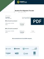 Price Indication for Alejandro Torrado