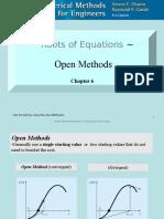Roots of Equations - Open Methods