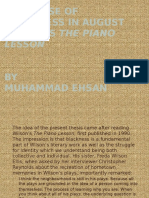 The Sense of Blackness in August Wilson's The Piano Lesson by Muhammad Ehsan