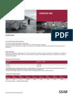 Data Sheet 159 Hardox 600