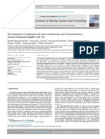 Development of underground mine monitoring and communication system integrated ZigBee and GIS