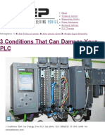 3 Conditions That Can Damage Your PLC _ EEP