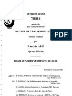 Ph D  thesis Francois ABBE  - 1990