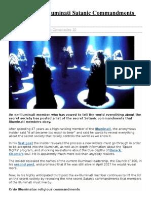 Secret List Of Illuminati Satanic Commandments Leaked docx