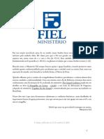 Fiel - Declaração de Fé & Afirmaçõe e Negações Ed.1