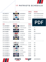 Patriots 2017 Printable Schedule