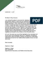letter from stephen edgar