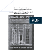 Libro Sagrado de Liturgia Gnostica AGEACAC Develado Por VM Principe Gurdjieff