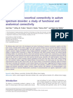 Impaired thalamocortical connectivity in autism spectrum disorder