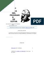 Crítica Del Programa de Gotha de Karl Marx