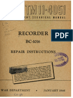 TM11-4051 Recorder BC-1016 Repair Instructions, 1946