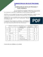 Múltiplos y Submúltiplos en Electricidad y Electrónica