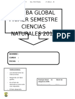 Evaluación global ciencias 2°