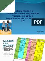 Calendario de Vacunación 2013