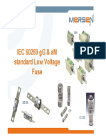 TM 104 Low Voltage Fuses AM GG European IEC60269