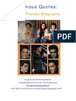 Elvis Presley Biography Famous Quotes