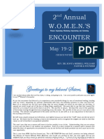 2nd Annual Womens Retreat Brochure Handout