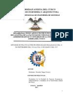 Informe de Practicas Pre Profesionales  ing de sistemas