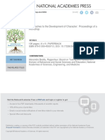 Approaches to the Development of Character - Proceedings of a Workshop