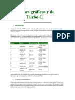 Funciones Gráficas y de Texto de Turbo C