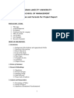 Project Report Format and Guidelines