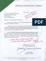 Archbishop's Letter