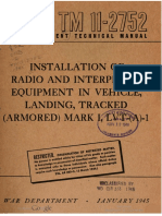 TM11-2752 Installation of Radio and Interphone Equipment in Vehicle, Landing, Tracked (Armored) Mark IV, LVT-(a)-4, 1945