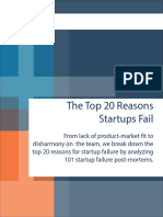 20 Reasons Startups Fail by CB Insights