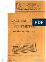 TM11-2654 Vacuum Tube Voltmeter Hickok Model 110-B, 1945