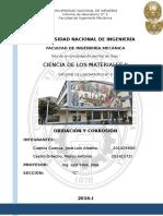 Lab. Ciencia de Los Materiales 2-Oxidación y Corrosión