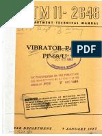 TM11-2648 Vibrator Pack PP-68 U, 1945